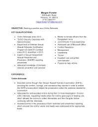 Order Selector Resume Targeted Resume Victim Advocate
