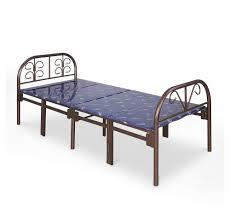 buy nilkamal olivia folding metal bed dark brown online at home