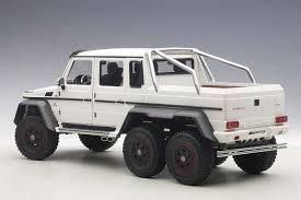 mercedes 6x6 highly detailed autoart matt white composite mercedes benz g63 amg
