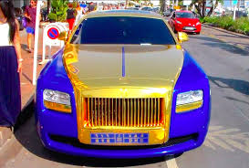 gold rolls royce bling bling gold and blue rolls royce ghost in cannes youtube