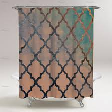 Teal And Brown Shower Curtain Shower Curtains U2014 Oliver Gal
