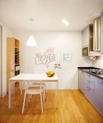 turn that white wall into a information center kitchen diy