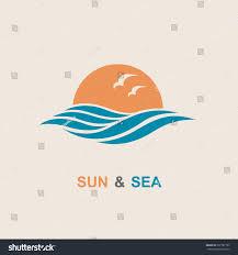 Disigen by Abstract Design Sun Sea Icon Vector Stock Vector 537787105