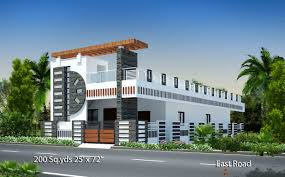 Best 2 Bhk House Plan 200 Sq Yds 25x72 Sq Ft East Face House 2bhk Elevation View For