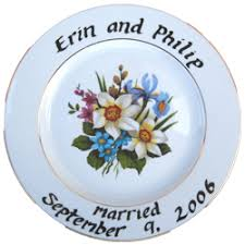 personalized ceramic platters wedding and anniversary plates