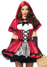 Gothic Womens Halloween Costumes Amazon Leg Avenue Women U0027s 2 Piece Gothic Red Riding Hood