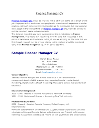 Finance Manager Resume Sample by Financial Administrator Cover Letter