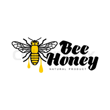 bee honey apiary logo sketch style vector illustrations