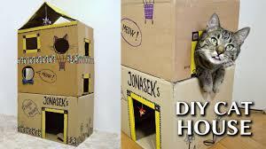 epic cardboard cat house diy youtube