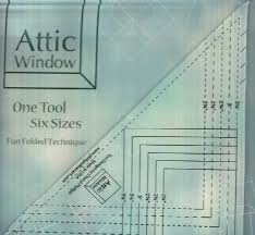 attic window ruler and pattern by phillips fiber art at kayewood com