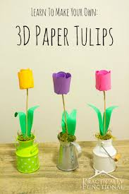 how to make paper tulips fun crafts kids