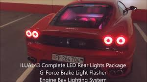 ferrari headlights at night www scudingswiss com ilual43 led rear lights package for ferrari