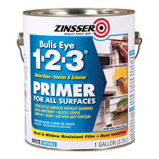 Home Depot Interior Paint Brands Zinsser Bulls Eye 1 2 3 1 Gal White Water Based Interior Exterior