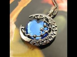 blue moon necklace images Unboxing half blue moon necklace jpg