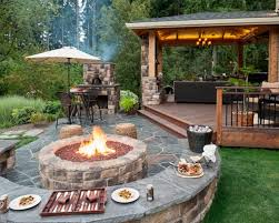 all images exterior brown sofa with rectangular fire pit table and