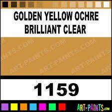 golden yellow ochre brilliant clear pigment set oil paints 1159