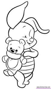 winnie poo coloring blank pattern winnie poo