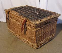 large wicker baskets with lids antiques atlas a large vintage victorian wicker basket