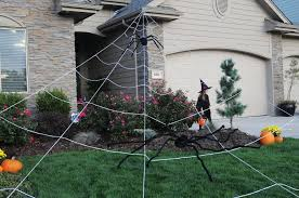 Outdoor Halloween Decorations Spiders by Mega Yard Spider Web Huge Outdoor Halloween Yard Decor Rope Web