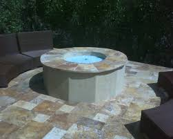 Outdoor Gas Fire Pit Custom Built Outdoor Gas Fire Pit With Crushed Glass Fire U2014 Gas
