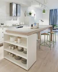 cuisine ouverte sur s駛our contemporain realiser un ilot cuisine original vue cour arri re and