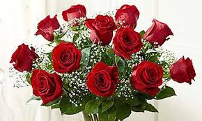 multi colored roses one dozen roses in clear vase flowers on the park groupon