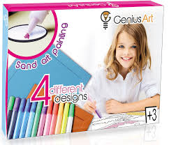 amazon com genius art sand art painting arts and crafts kit for