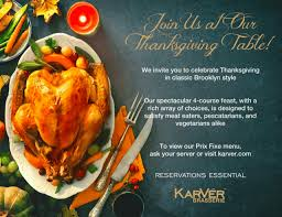 12 restaurants serving thanksgiving dinner bklyner