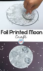 foil printed moon craft a dab of glue will do