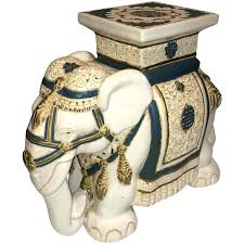 Elephant Side Table Side Table Elephant Garden Stool Or Side Table 1 Vintage Ceramic