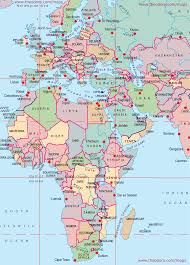 Europe Country Flags Maps Of Europe Middle East Africa Region Emea Flags Within Map