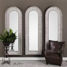 uttermost argenton aged gray arch mirror cds mirrors pinterest