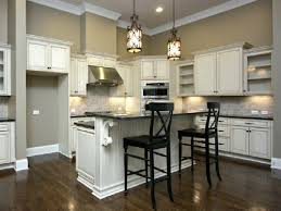 sherwin williams antique white painted kitchen cabinets in