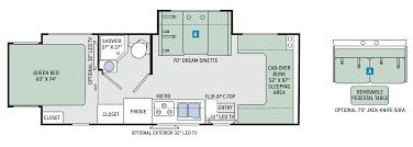 Sprinter Travel Trailer Floor Plans by Floor Plans Four Winds Sprinter 24hl