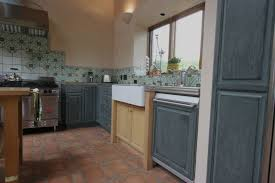 what is new in kitchen design blonde blue and red oak kitchen w l rubottom cabinets co