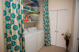 Laundry Room Curtains Hiding The Laundry Room Eclectic Laundry Room Toronto By