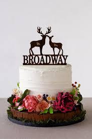 wedding cake topper deer mr mrs wooden last name topper deer
