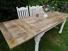 Large Rustic OAK Country Farmhouse Kitchen Dining Table EXTENDING - Rustic oak kitchen table