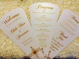 customized wedding programs newmengxing front back printed wedding programs petal fan
