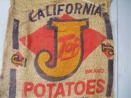 Deco Vintage Americaine Ancien Sac à Pomme De Terre Americain Déco Vintage Usa