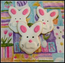 Decorated Easter Bunny Cookies by Easter Bunny Cookies Making Memories With Your Kids