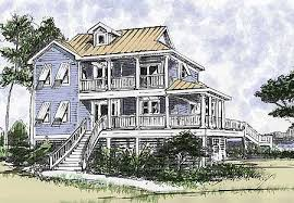 plan w13034fl beach house plan with two story great room e
