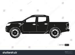black silhouette suv drawing car on stock vector 701299117