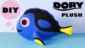 diy dory plush with free templates finding dory youtube