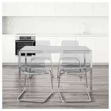 kitchen glass table and chairs torsby tobias table and 4 chairs glass white transparent 135 cm ikea