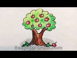 how to draw a apple tree free easy tutorial for