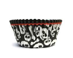 skull cupcake liners etsy
