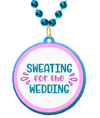 custom mardi gras sweating for the wedding bridal shower and bachelorette party