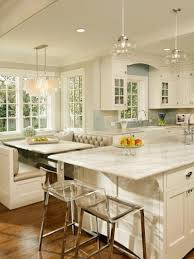 kitchen contemporary cottage kitchen cozy breakfast nook table