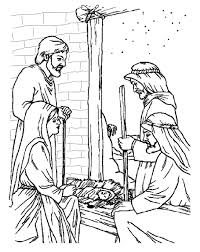 birth of jesus coloring page free christian coloring pages for young and old children level 2